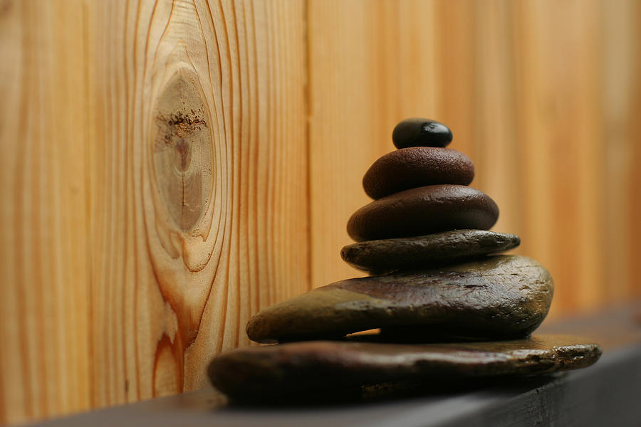 Zen Rocks Photograph - Cairn Meditation Stones by Heidi Hermes