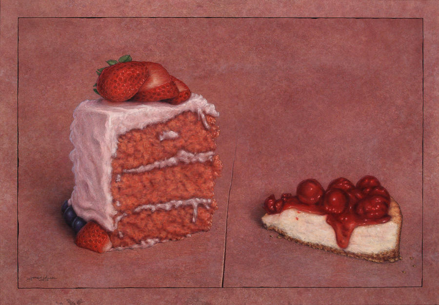 Cakefrontation Painting  - Cakefrontation Fine Art Print
