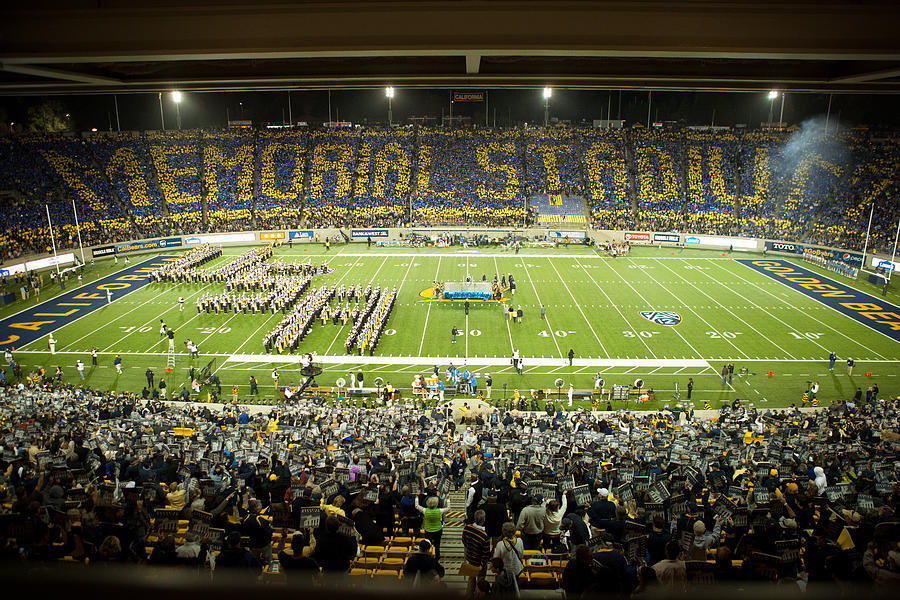Cal Memorial Stadium On Game Day Photograph
