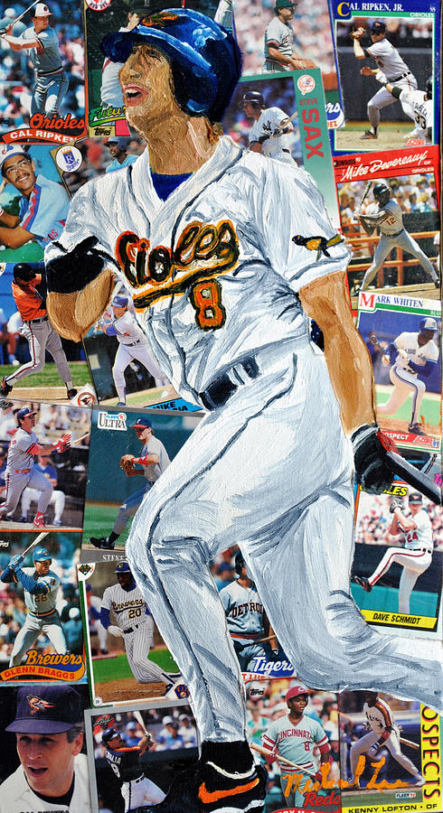 Baseball Painting - Cal Ripkin Jr by Michael Lee