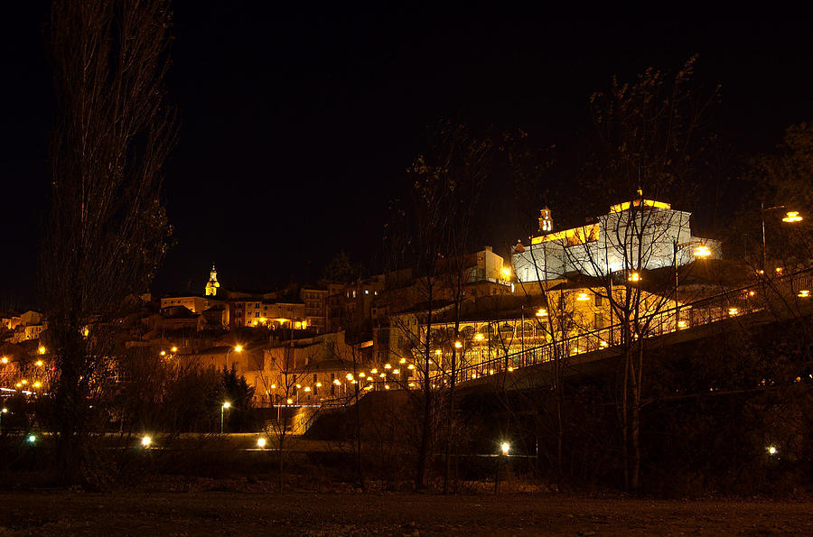 Calahorra At Night Photograph