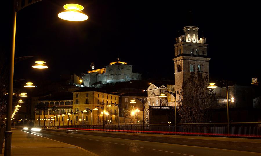 Calahorra Photograph - Calahorra Cathedral At Night by RicardMN Photography