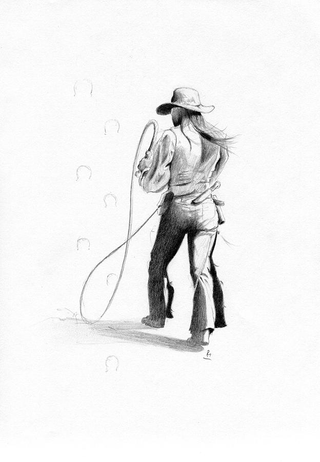 Calamity Jane Drawing  - Calamity Jane Fine Art Print