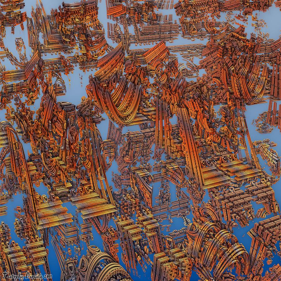 Calcutta Digital Art - Calcutta Temple Goes To Heaven. by Tautvydas Davainis