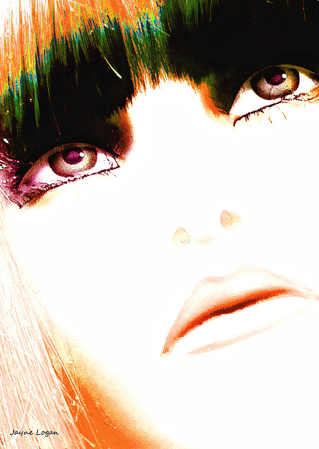 Calico Girl Pop Art Photograph  - Calico Girl Pop Art Fine Art Print