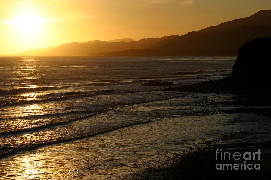 California Coast Sunset Photograph