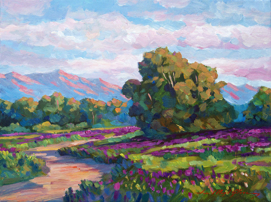 California Hills - Plein Air Painting  - California Hills - Plein Air Fine Art Print