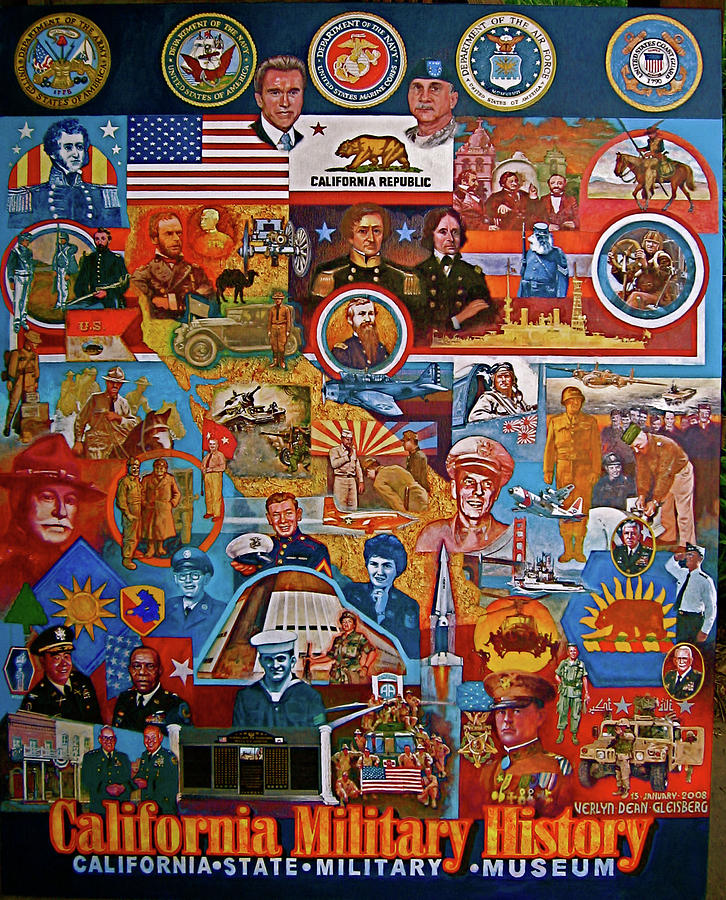 California Military History Mural Upgrade Painting