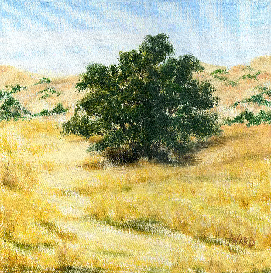 California Oak Painting  - California Oak Fine Art Print