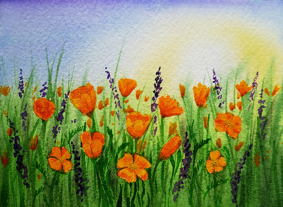 California Poppies Field Painting