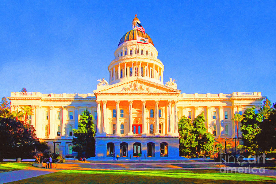 California State Capitol . Painterly Photograph