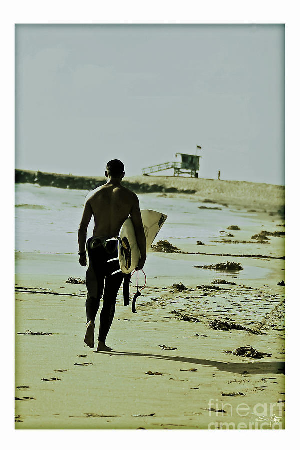 California Surfer Photograph  - California Surfer Fine Art Print