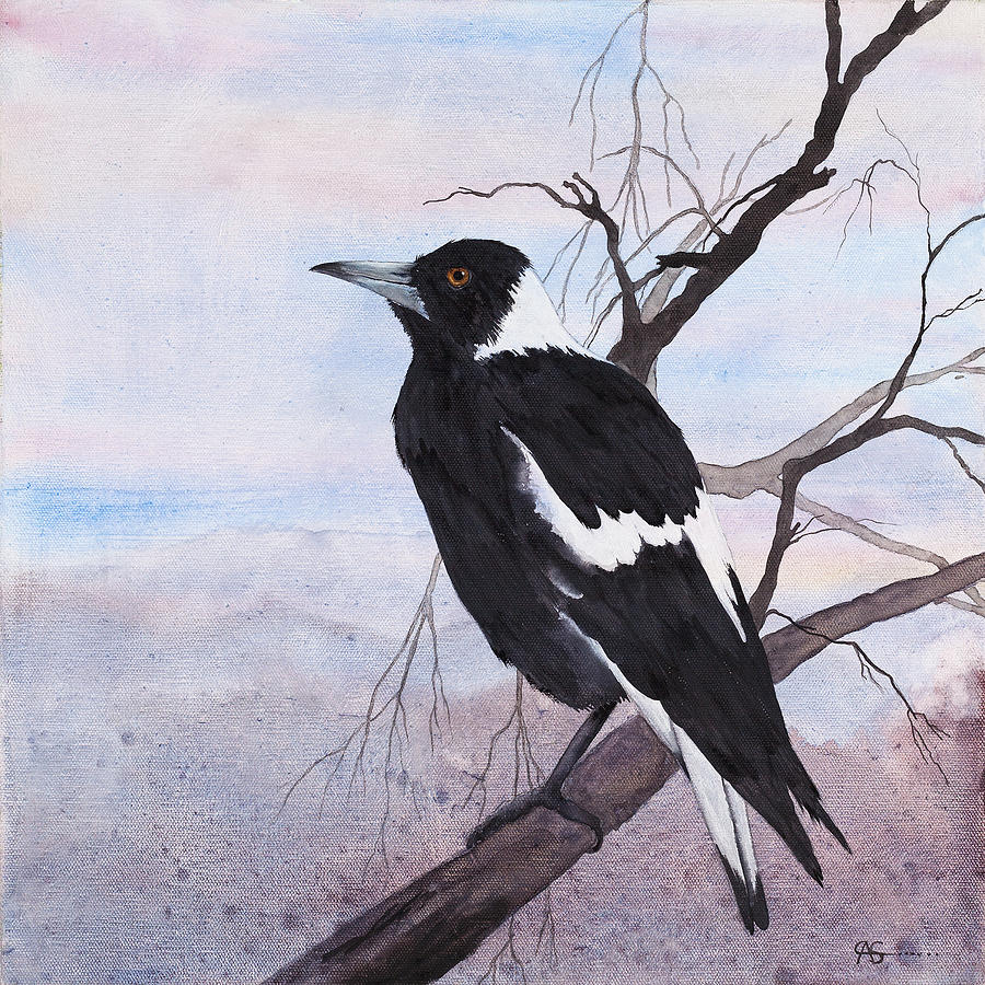 Call Of The Magpie Painting