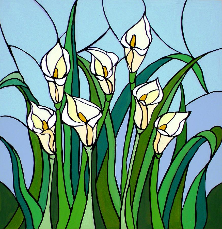 Calla Lilies Painting by JW DeBrock