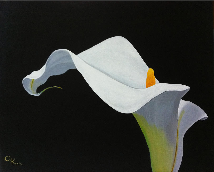 Calla Lily Painting by Annie Keen