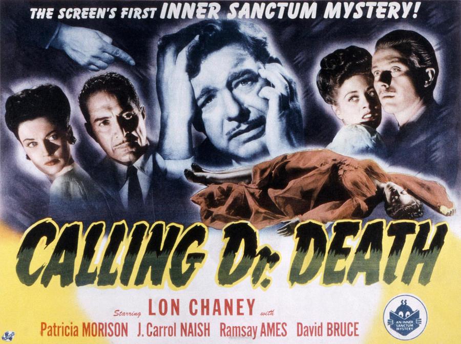 Calling Dr. Death, Patricia Morison, J Photograph
