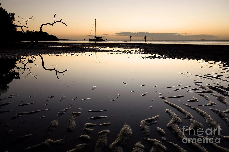 Beach Photograph - Calm Harbor At Dusk by Matt Tilghman