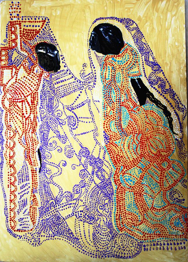 Jesus Painting - Calvary by Gloria Ssali