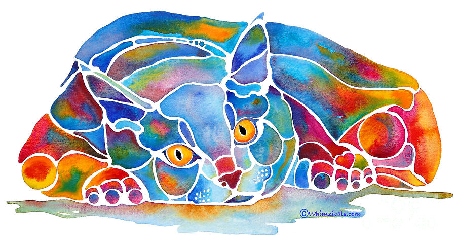 Calypso Cat Painting