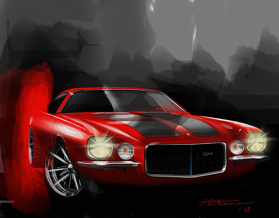 camaro 1970 Z 28 Digital Art