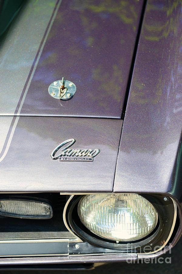 Classic Camaro Ss Hood Cowl Photograph - Camaro Ss With Hood Pin by Paul Ward