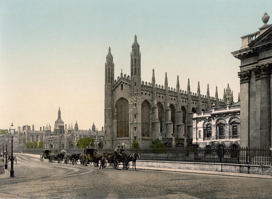 Cambridge - England - Kings College Photograph  - Cambridge - England - Kings College Fine Art Print