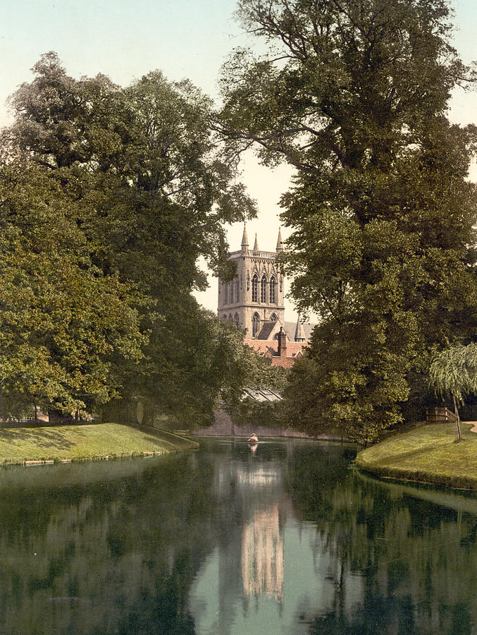 Cambridge - England - St. Johns College Chapel From The River Photograph