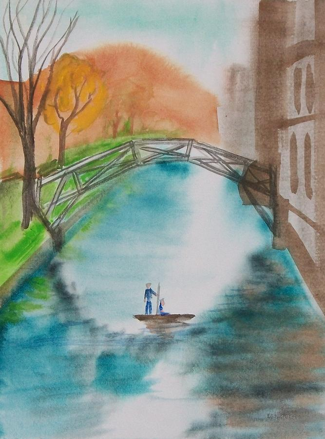 Cambridge River View Painting  - Cambridge River View Fine Art Print