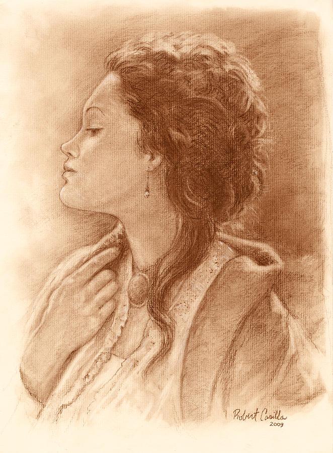 Cameo Girl  Drawing