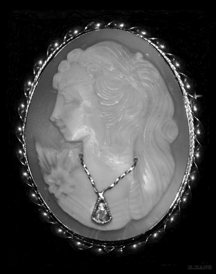 Cameo In Black And White Photograph