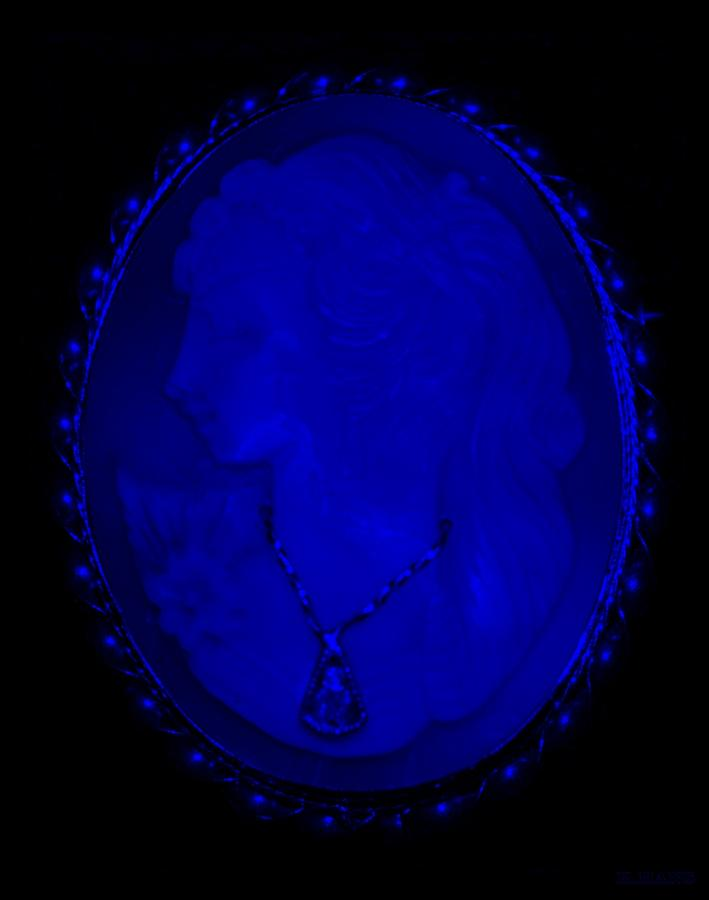 Cameo In Blue Photograph