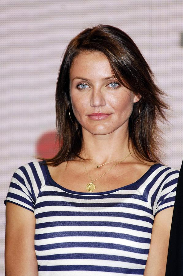 Cameron Diaz At The Press Conference Photograph