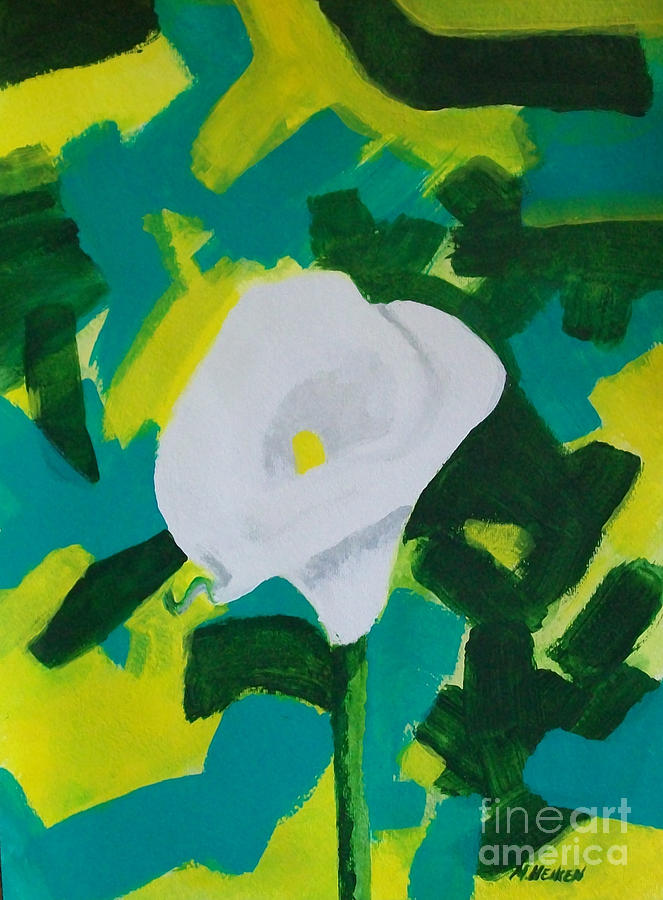 Camo Calla Lilly Painting