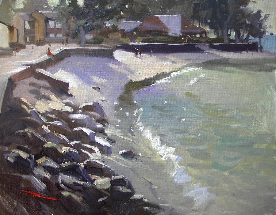 Haleiwa Painting - Camp Mokuleia Sunset by Richard Robinson