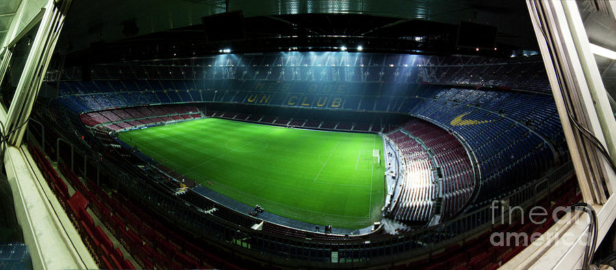 Camp Nou At Night Photograph  - Camp Nou At Night Fine Art Print