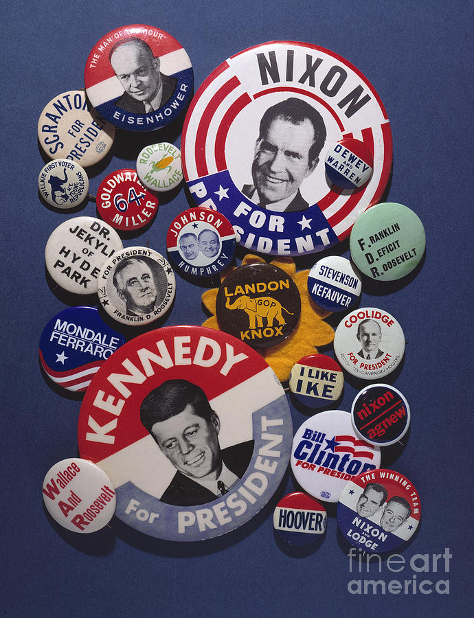 20th Century Photograph - Campaign Buttons by Granger