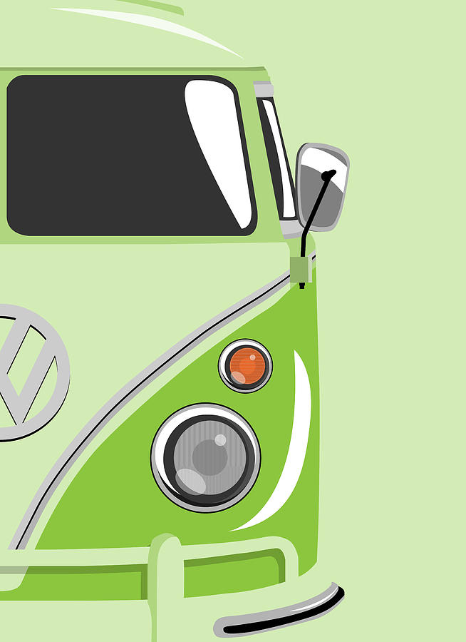 Camper Green 2 Digital Art