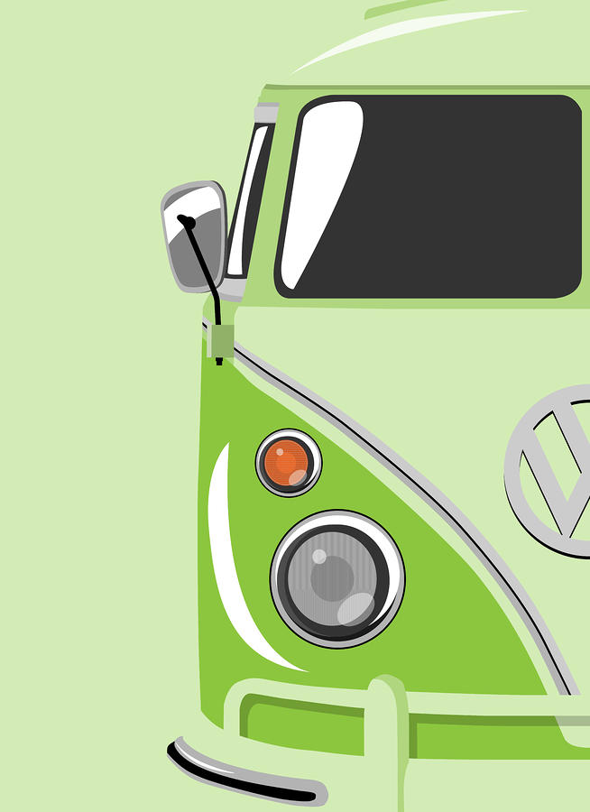 Camper Green Digital Art  - Camper Green Fine Art Print