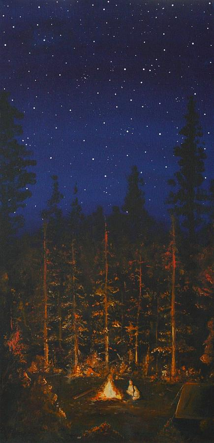 Camping In The Nothwest Painting