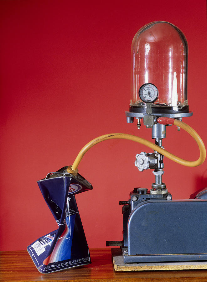 Vacuum Pump Photograph - Can Evacuated By Vacuum Pump by Andrew Lambert Photography
