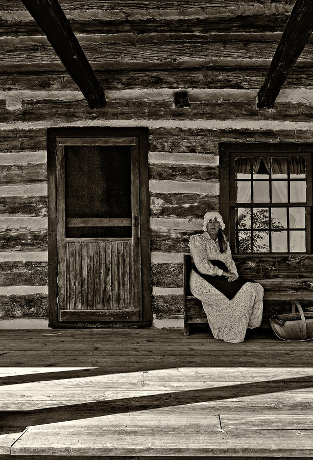 Grey Roots Museum & Archives Photograph - Canadian Gothic Sepia by Steve Harrington