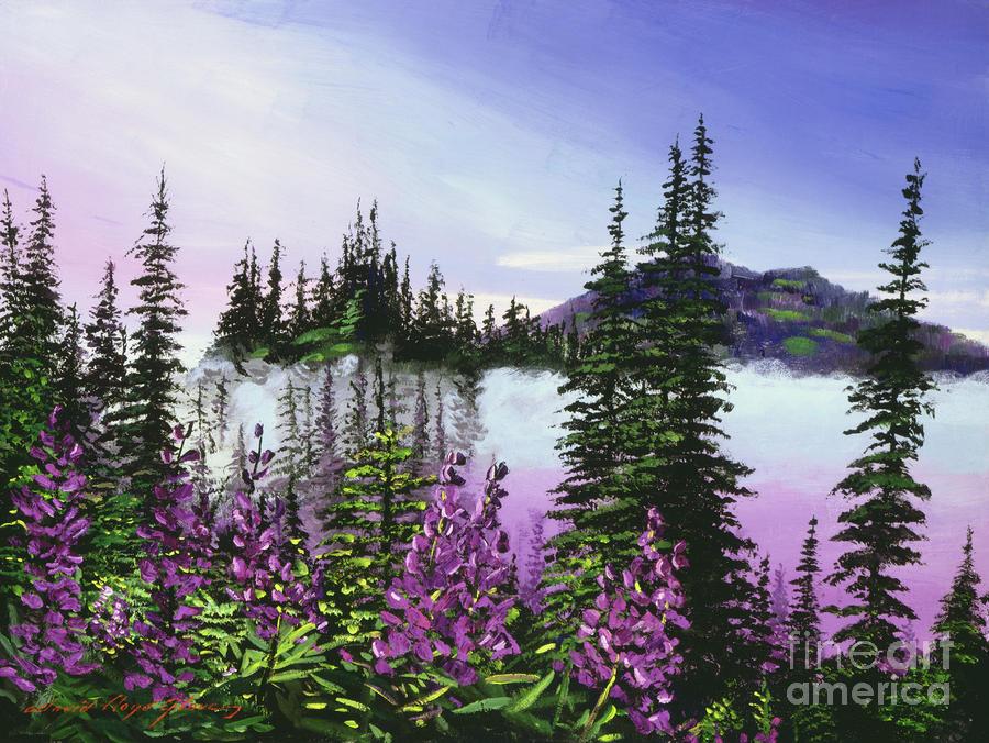 Canadian Sunrise Painting