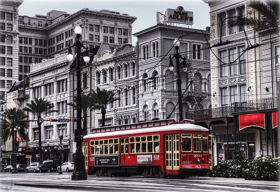 Canal Street Trolley Photograph