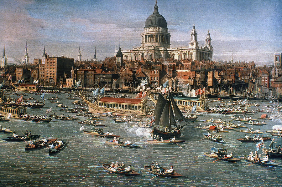 Canaletto: Thames, 18th C Photograph  - Canaletto: Thames, 18th C Fine Art Print