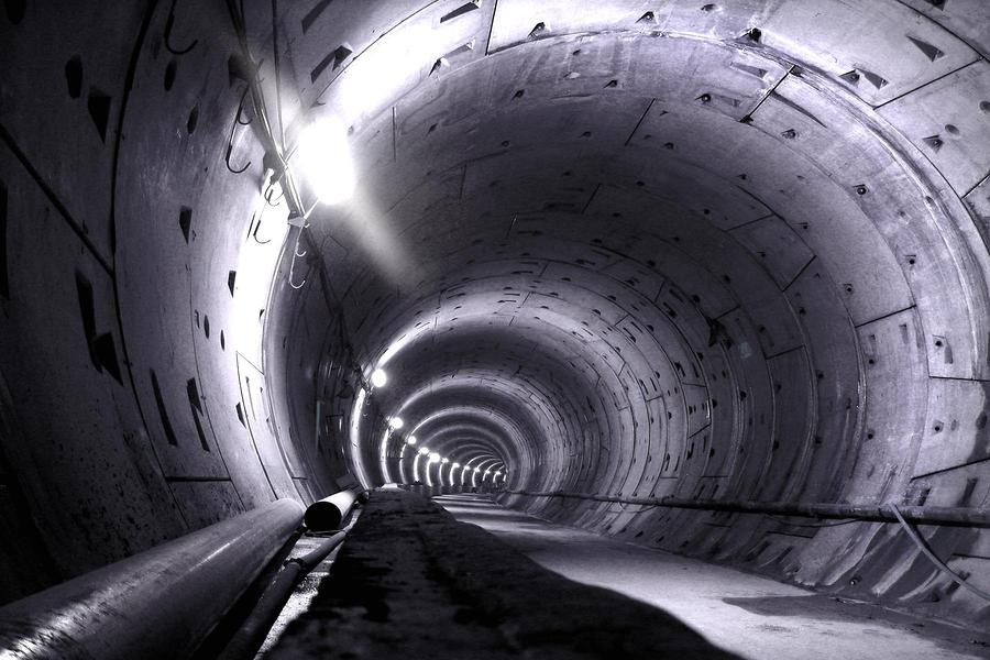 Cananda Line Tunnel Digital Art  - Cananda Line Tunnel Fine Art Print
