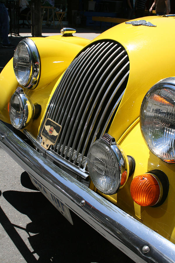 Canary Yellow Morgan Sportscar Photograph  - Canary Yellow Morgan Sportscar Fine Art Print