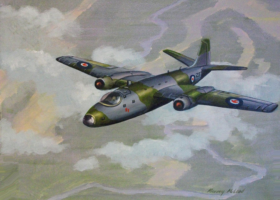 Canberra Sortie Painting
