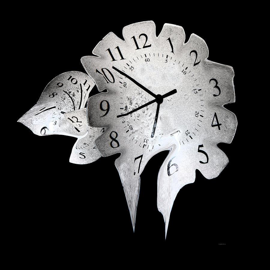 Candle clock digital art by betsy knapp