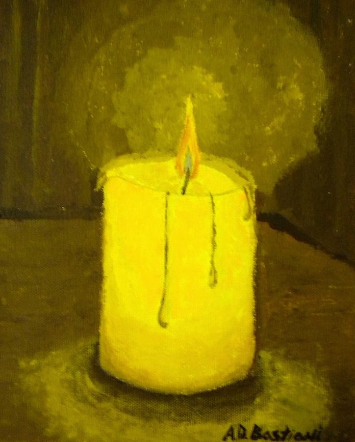 Candle light by adam bastiani for Candle painting medium