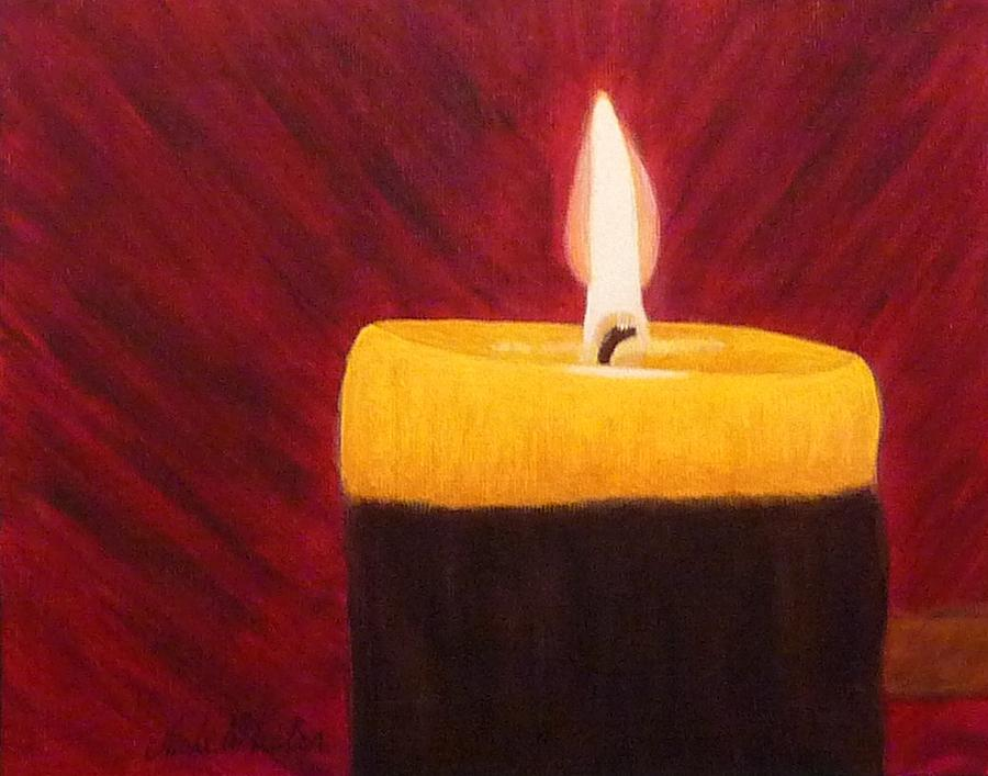Candle light by anke wheeler for Candle painting medium